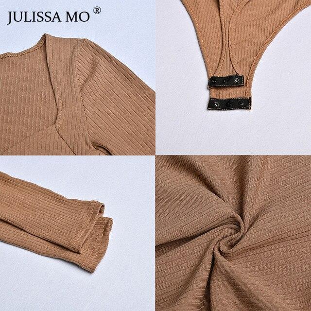 JULISSA MO Rib Knitted Long Sleeve Bodysuit   6