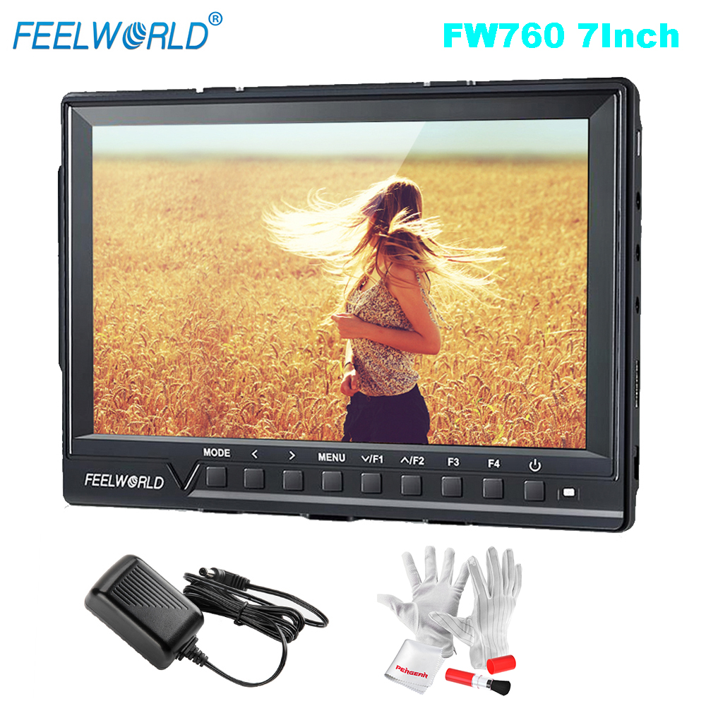 Feelworld FW760 FullHD 1920x1280 7 Camera Video IPS Filed Monitor HDMI Peaking Focus Assist Contrast 1200:1 Wide View Angles feelworld fw760 fullhd 1920x1280 7 camera video ips filed monitor hdmi peaking focus assist contrast 1200 1 wide view angles