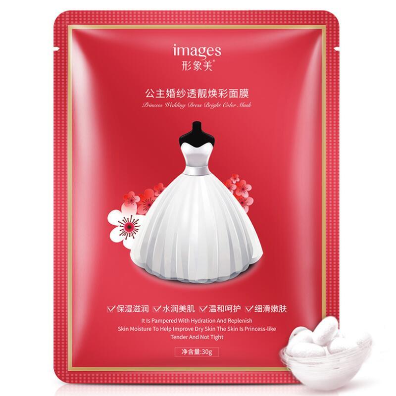 Images Princess Wedding Mask Moisturizing Brightening Hydration Whitening Improve Dry Skin Face Mask Skin Care