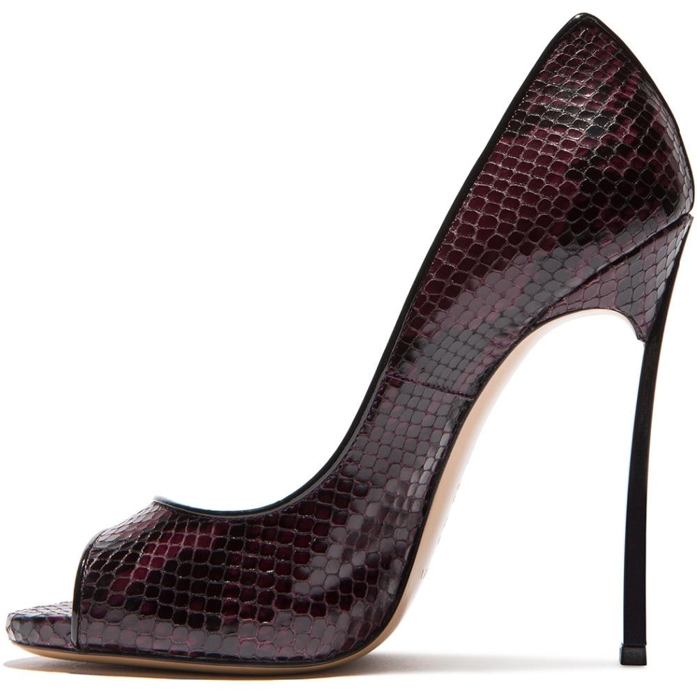 88ccfdd2ddcd Nancyjayjii Dark Purple Pleather Peep Toe Thin High Heels Pumps Shoes for  Woman