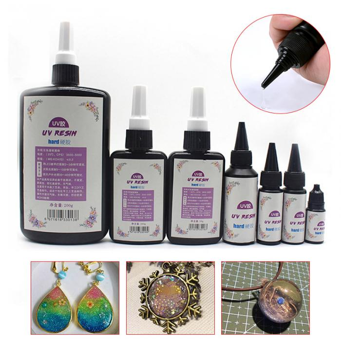 US $1 18 15% OFF DIY UV Ultraviolet Resin Curing Solution Quick drying Non  toxic Sunlight Activated Hard-in Adhesive Fastener Tape from Home & Garden