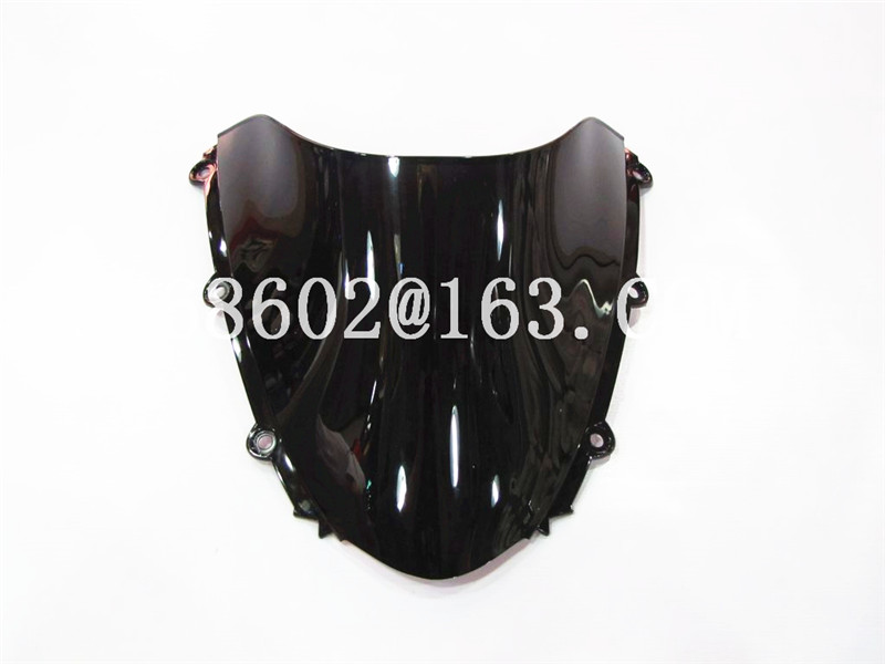 För Honda CBR 1000 RR 2004 2005 2006 2007 Black Windshield WindScreen Double Bubble cbr 1000 rr CBR1000 cbr1000 CBR1000RR