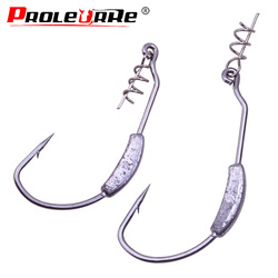 5pcs/lot Barbed Lead Offset Fishing Fish Hooks Fit for Crank hook Texas Carolina Florida Rigs Accessories Fishing Tackle PR-465