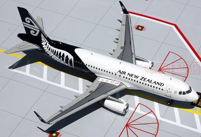 GeminiJets Nueva Zelanda G2ANZ479 A320W de Aire equipo de negro 1:200 modelo de avión manía aviones comerciales
