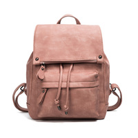 2017 Spring Summer New Style Of Fashion Vintage Girl S Double Shoulder Bag PUsimple Student Soft