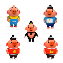 Mini USB flash drive cartoon pig pen 4GB 8GB 16GB 32GB 64GB cute animal memory stick Personalized gift pendrive usb