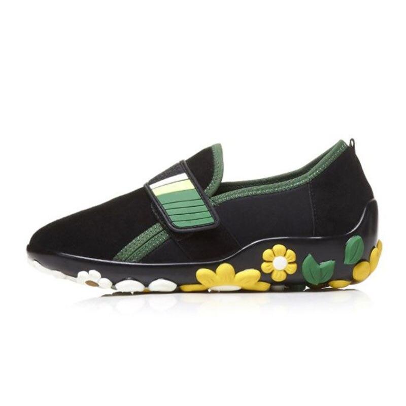 RIZABINA คุณภาพสูงรองเท้าสตรีรองเท้าหนังแท้หนังนุ่มด้านล่างดอกไม้ Leisure รองเท้ากลางแจ้งรองเท้าผู้หญิงขนาด 34  39-ใน รองเท้าส้นเตี้ยสตรี จาก รองเท้า บน   2