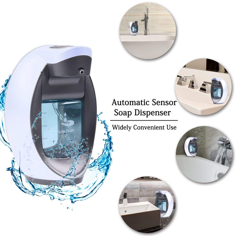 Yooap Automatic Soap Dispenser Pump 480ML 2 Mode Adjustable Foaming Sensor Pump Waterproof Motion Sensor Kitchen