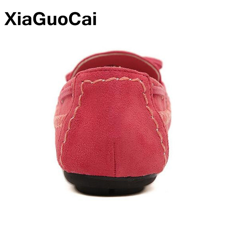 76f061b2abbf Sweet Bowtie Women Loafers Spring Autumn Women s Flats Boat Shoes Slip On  Breathable Ladies Casual Footwear Moccasins Large Size-in Women s Flats  from Shoes ...