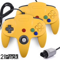 2xRetro Wired Game Pad Controller Joystick Compatible N64 System Video Games Console