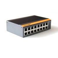 16 портов 10/100/1000 Мбит/с Неуправляемый коммутатор на din рейку Industrial Ethernet Switch RJ45 разъем, коммутатор Ethernet