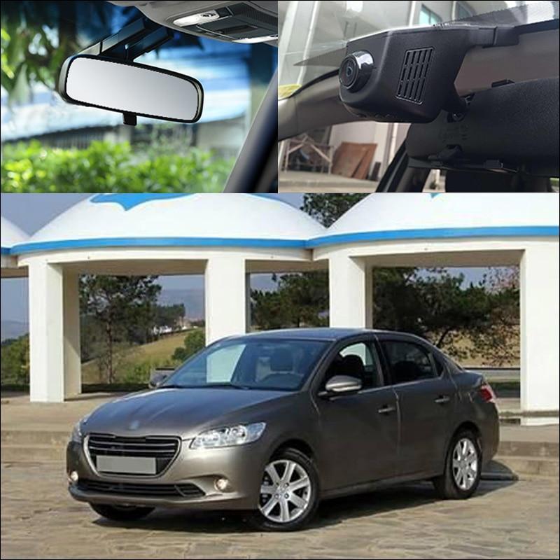 BigBigRoad For Peugeot 301 4007 408 APP Control Car Wifi DVR Video Recorder FHD 1080P G-sensor Car Dash Camera Car Black Box