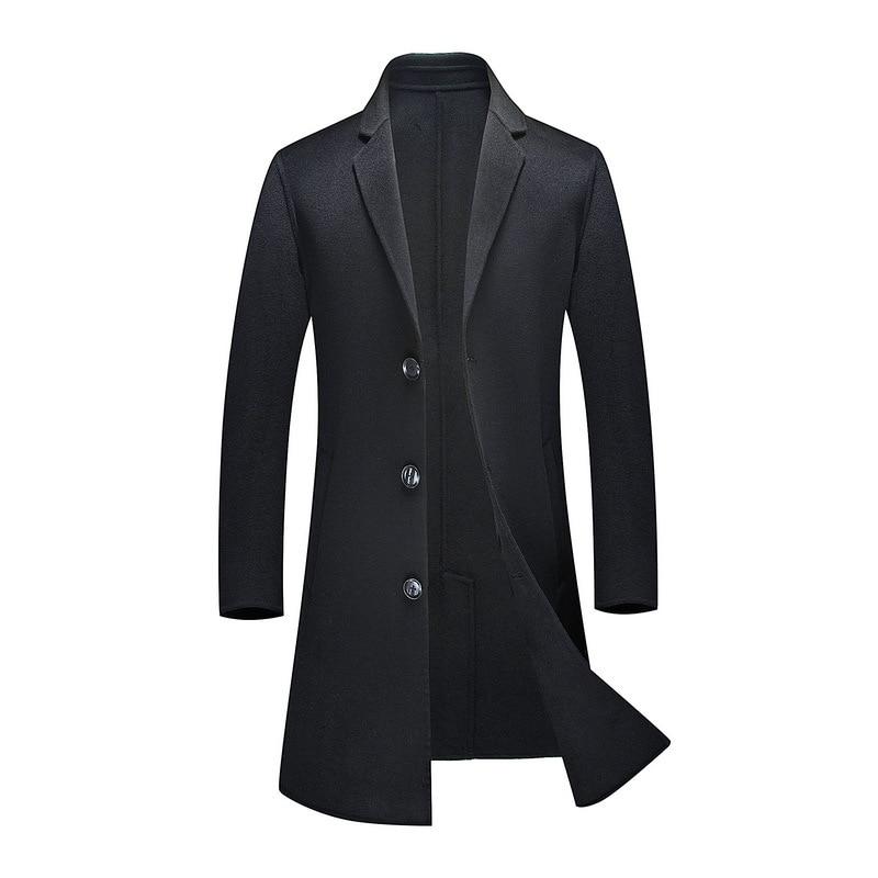 De Laine Casual Unique Épais Taille Hiver 70Manteaux 3xl 1 Qualité Gray Luxe Hommes Costume Automne Black vent Neuf Coupe Double Poitrine Haute 18 18 M 1 SUzGVqMp