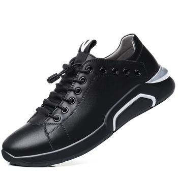 Wysokość zwiększenie buty dla mężczyzn oryginalne skórzane buty sportowe oryginalne skórzane buty z bez bawełny gruby obcas mokasyny zy345 tanie i dobre opinie Dla dorosłych Przypadkowi buty Prawdziwej skóry Gumowe Oddychająca Lace-up Wiosna jesień Stałe Pasuje prawda na wymiar weź swój normalny rozmiar