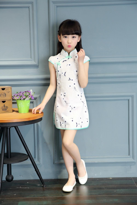 New Chinese Retro Kid Child Girl/'s Baby Cheongsam Dress Qipao 1-12Y Clothes