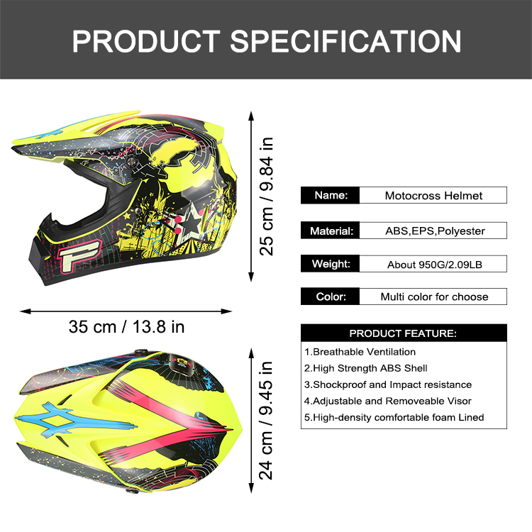 ABS Shell Racing Motorcycle Helmets for Motocross Moto Off Road Riding Mountain Bike Downhill Cycling Foam Lining Safety Caps in Helmets from Automobiles Motorcycles