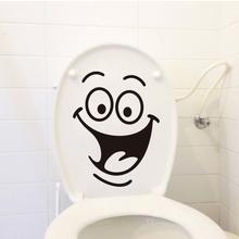 Dekoracje dla domu diy motyw uśmiechniętej twarzy pokrowiec na deskę sedesową naklejki ścienne do łazienki ścienne wymienny naklejki ścienne do toalety dekoracyjna naklejka tanie tanio feiqiong Jednoczęściowy pakiet Nowoczesne Wc Naklejki Naklejka ścienna samolot cartoon JJ6235