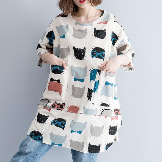 La MaxPa Half Sleeve Summer Dress 2019 Cute Cartoon Mini Women Plus Size  Ladies Casual Clothes For