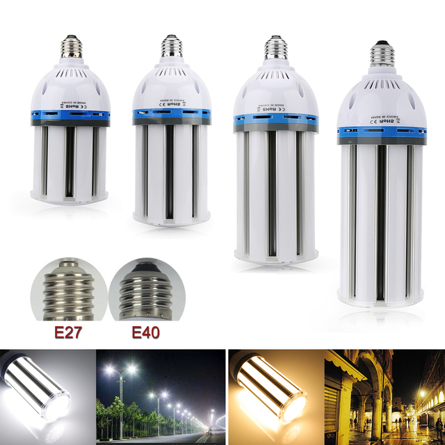 E27 E40 LED Corn Light 35W/45W/55W/65W SMD5730 Led Lamp Bulb Industrial Lighting Warehouse Factory Cylinder Luces Outdoor Lights