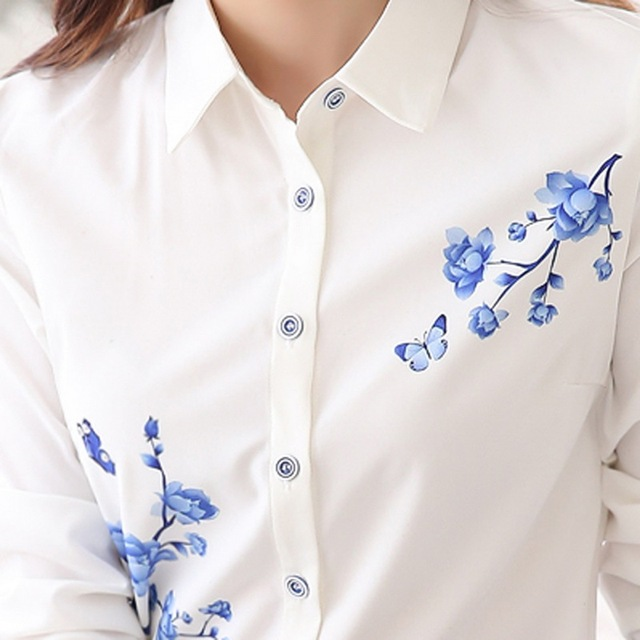 Korean  Style Ladies White Formal Work Blouse – Sizes S-3XL