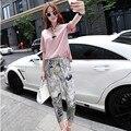 Europa en el verano de 2015 las mujeres de nueva fragancia pequeño traje de ocio de moda femenina floja al por mayor de dos