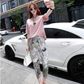 Europe in the summer of 2015 women's new small fragrant fashion leisure suit female wholesale loose two