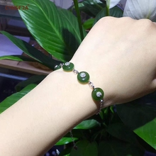 CYNSFJA Real Certified Natural Hetian Jade Jasper 925 Sterling Silver Fine Jewelry Lucky Peace Buckle Green Bracelets High Quality Best Gifts