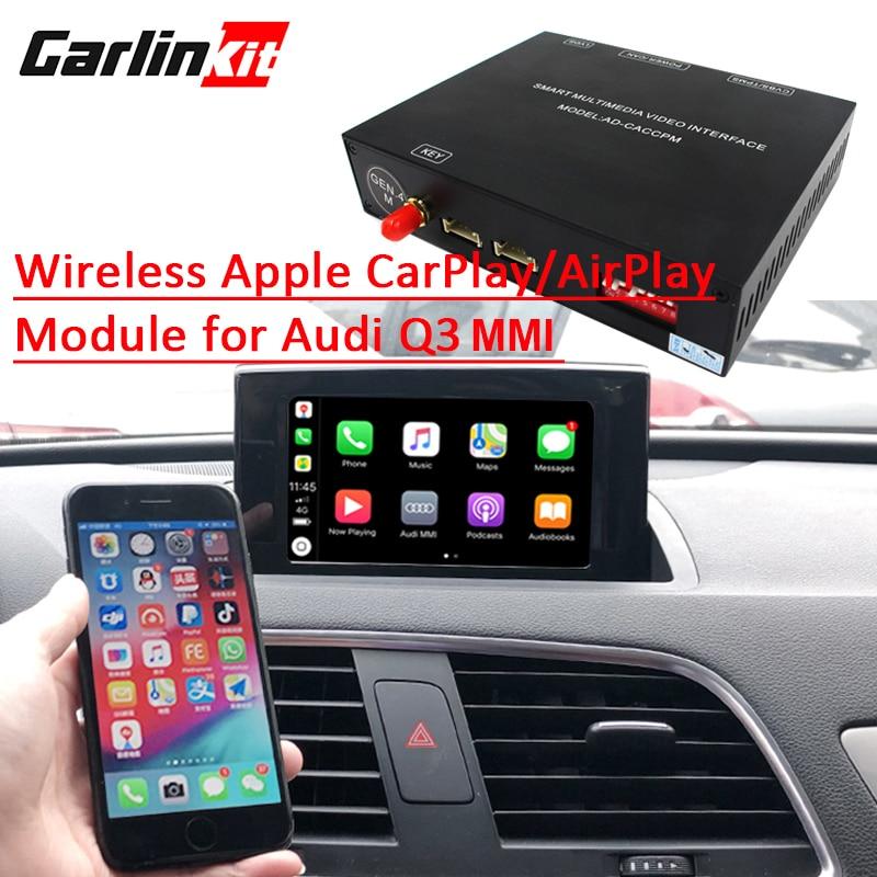 2019 Car Apple CarPlay Android Auto Wireless Decoder for Audi Q3 MMI  2013-2018 Original Screen Reverse image Retrofit Kit
