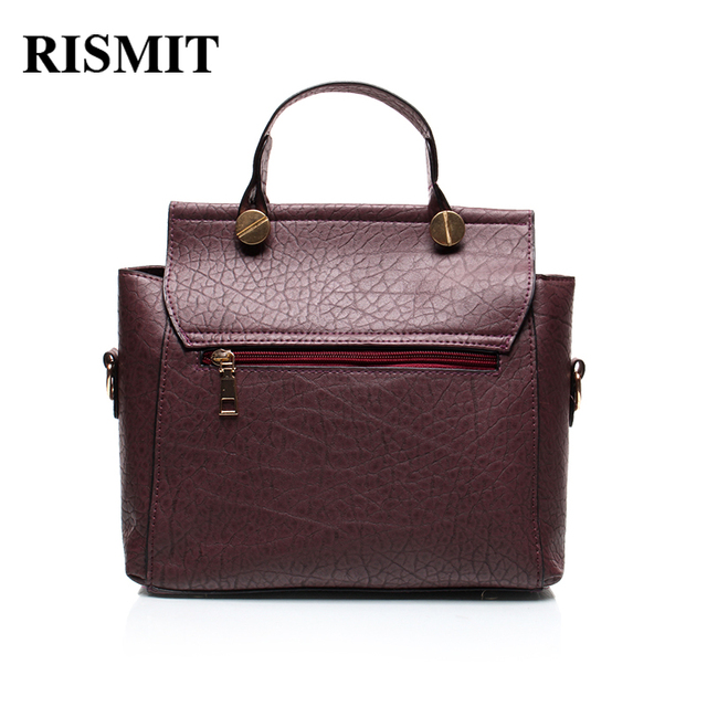 RISMIT 2017 New Women Bag Fashion Brand hand bag Big Solid Pu Leather Lady Shoulder Bag Female Casual Tote Crossbody bags  BO36