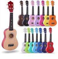 Child little guitar color Ukulele Soprano Concert Tenor Ukulele 21 inch basswood Hawaii Ukelele Stringed Musical Instruments