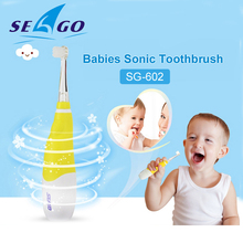 Electric-Toothbrush Soft-Bristle Kids Seago Children for 0-4-Years-Old Led-Light Two-Color