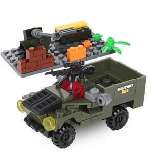 Image 4 - Military Building Block Assembly 8 in 1 Boy Aircraft Tank Explosion proof Special Police Armored Car Marine Corps Boy Toys