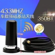 433 M 433 mhz 433 ad alto guadagno omnidirezionale digitale radio antenna di base Forte tazza di Aspirazione magnetica 35dbi SMA maschio Interno ago