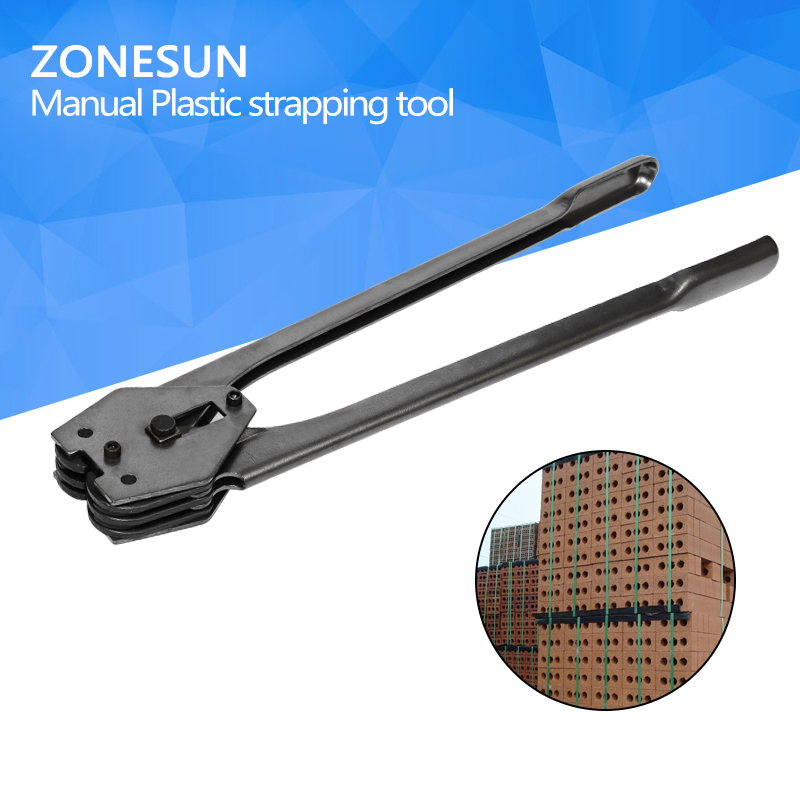 ZONESUN Manual Plastic strapping tool manual strapping tool sealer for 12mm to 16mm strap купить