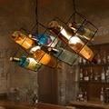 Loft Style Iron LED Pendant Light Fixtures Vintage Industrial Lighting For Indoor Dining Room Decorative Bottle Hanging Lamp