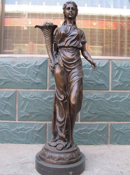 Западная Бронзовый Мраморная статуя Осень Богиня Урожая Ангел искусства скульптуры