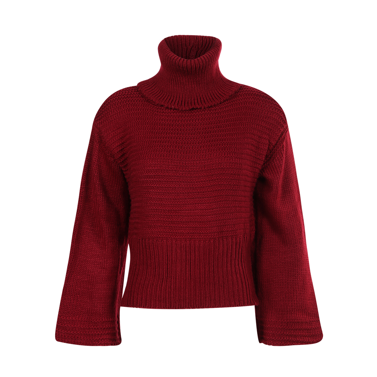 Online Shop IRISIE 2017 Apparel Burgundy Autumn Sweaters Women ...