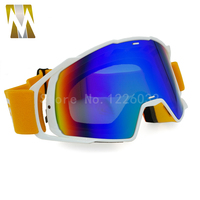 Verde scuro striscia nera Occhiali Da Moto Occhiali Motocross googles Bike Cross Country Flessibile Goggles Colorato UV