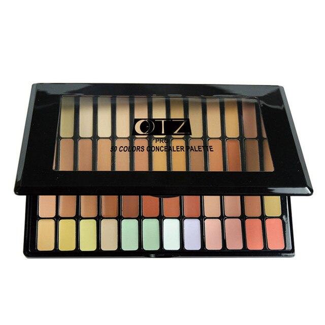 GRACEFUL 50 Colores Cara Polvo Paleta de Maquillaje Paleta de Corrector Base de maquillaje En Polvo AUG23