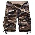 Venda quente de Alta Qualidade Mens Cargo Shorts Casual Cotton Forças Armadas Camuflam Camo Curtas Bermuda homme Verão Tamanho 29-42 (sem Cinto)
