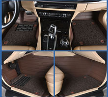 Automóvil coche tapetes alfombras pie almohadillas de doble capa roja para Agila Vectra Zafira Astra GTC PAGANI ZONDA SAAB Spyker RAM HUMMER