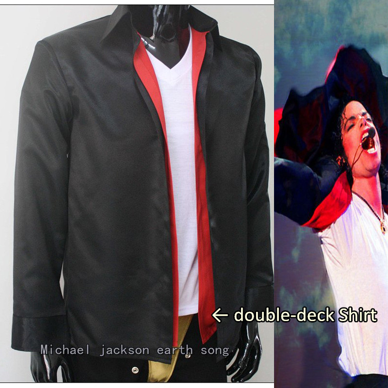 MJ Michael Jackson classic clothing Earth Song double-deck Shirt For Performance - Pro Series image