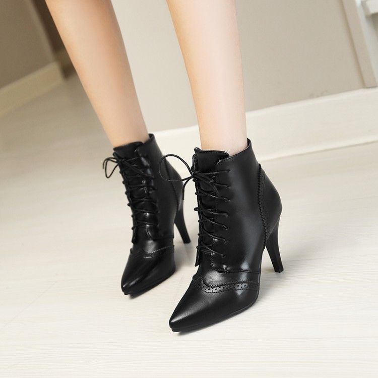 Big Size 11 12 13 14 15    Maam Fine heel Short boots    Pure color    Frenulum   Fashion boot barrel    High heel bootsBig Size 11 12 13 14 15    Maam Fine heel Short boots    Pure color    Frenulum   Fashion boot barrel    High heel boots