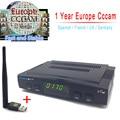 1 Ano Servidor Cccam Receptor de Satélite Freesat V7 + Usb Wi-fi Spport DVB-S2 YouTube ccam PowerVu Full 1080 P Europa Cccam Cline HD