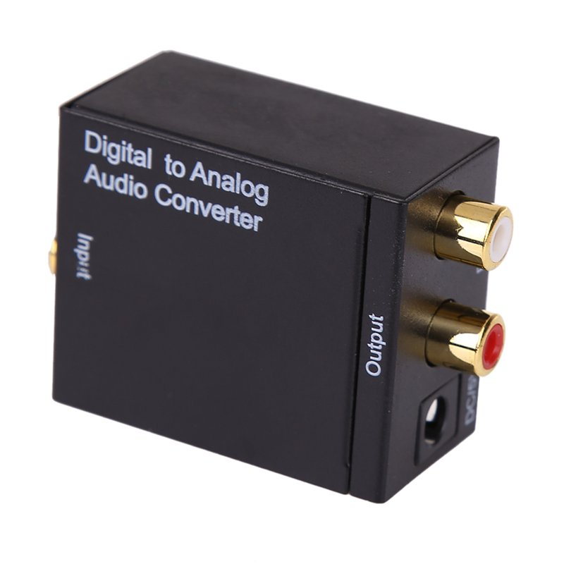 Hot Digital to Analog Audio Converter Adapter Adaptador Optic Coaxial RCA Toslink Signal to Analog Audio RCA Converter new digital to analog audio converter adapter digital adaptador optic coaxial rca toslink signal to analog audio converter rca