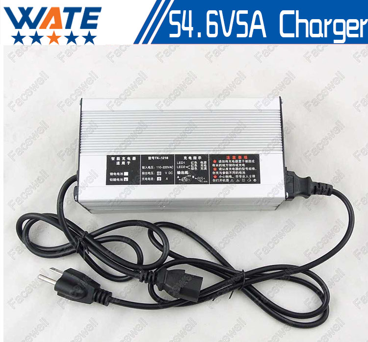 54.6v 5a battery charger bike 48v Lithium 48 volt li-ion 54.6v 5A smart intelligent For 10Ah 15Ah 48v 20ah battery charger 13s free customs taxes super power 1000w 48v li ion battery pack with 30a bms 48v 15ah lithium battery pack for panasonic cell