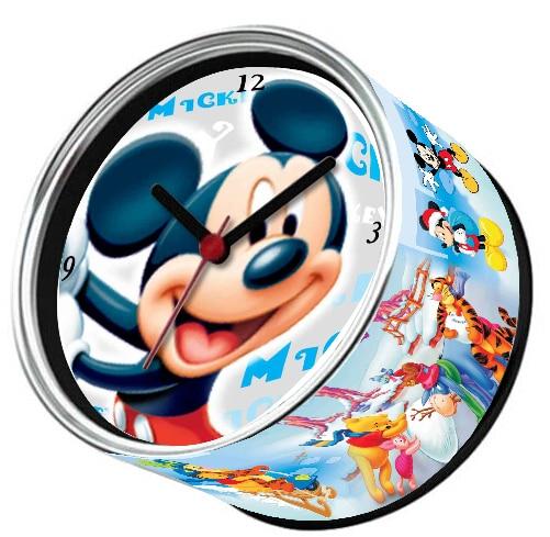 Free Shipping Mickey Cartoon Mouse Magnetic Wall Clock Tin Photo