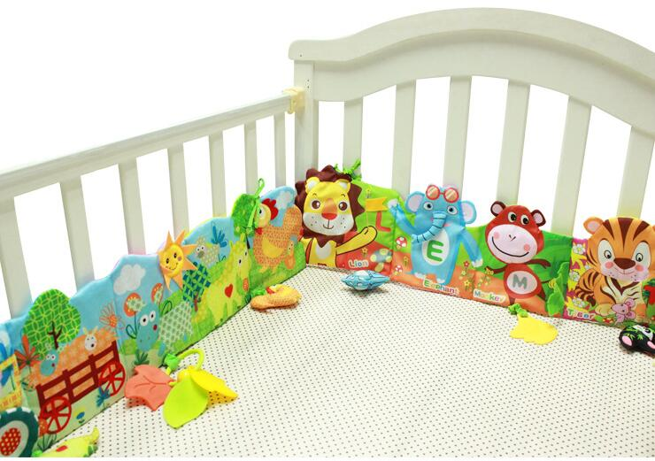 Crib Toys Learning : Baby bed mobile cloth book crib around soft plush