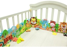 Baby bed Mobile Cloth Book Crib Bed Around Soft Plush Early Educational Cot Book Toys animal