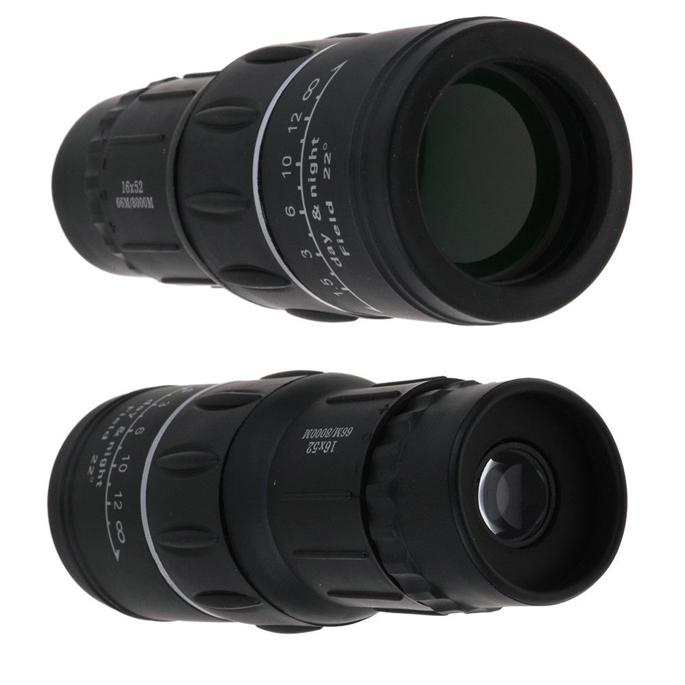 Image 2 - HD 16x52 Dual Focus Zoom Optical Night and Day Vision Monocular single Telescope Mini Portable Military Zoom Travel Hunting 5.29-in Monocular/Binoculars from Sports & Entertainment
